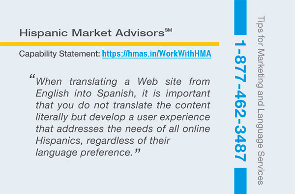 translating english to spanish website